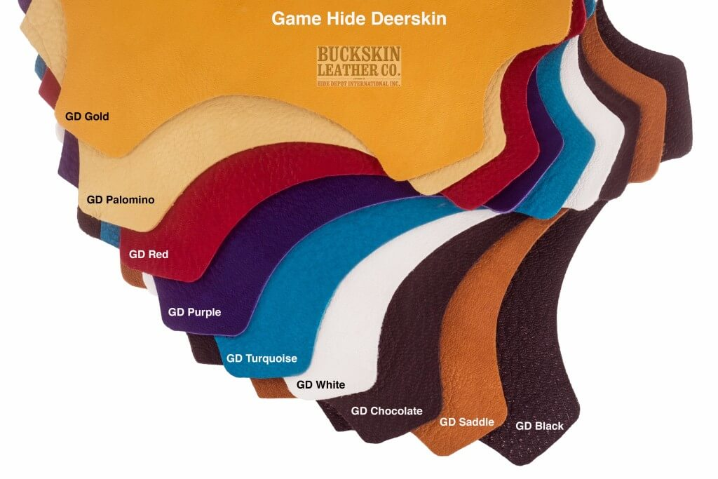 deerskin leather hides colors