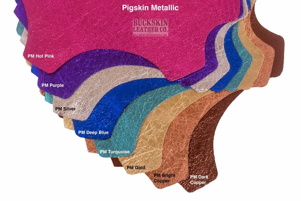 pigskin leather metallics
