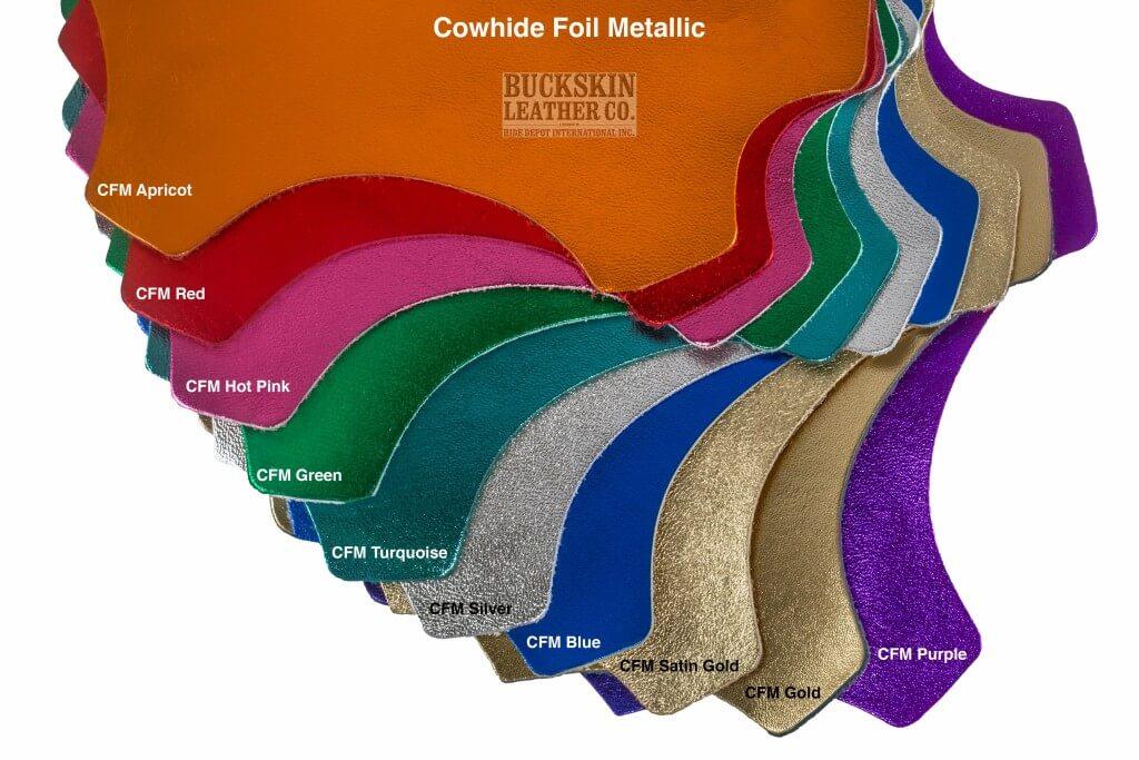 cowhide foil metallic leather colors 1