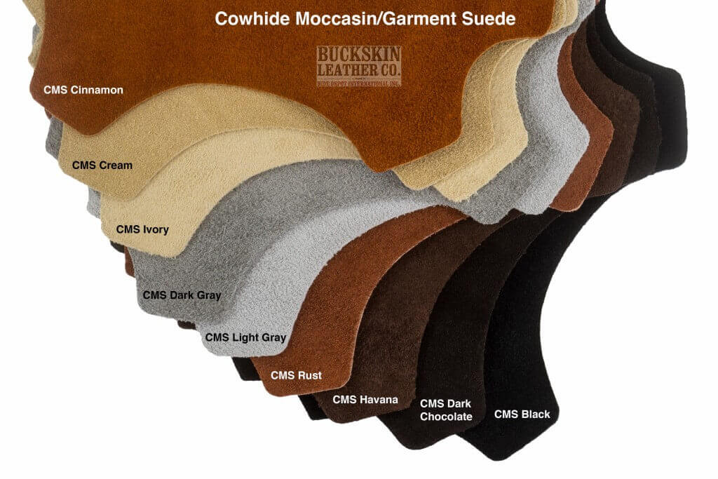cowhide moccasin garment suede leather swatch1