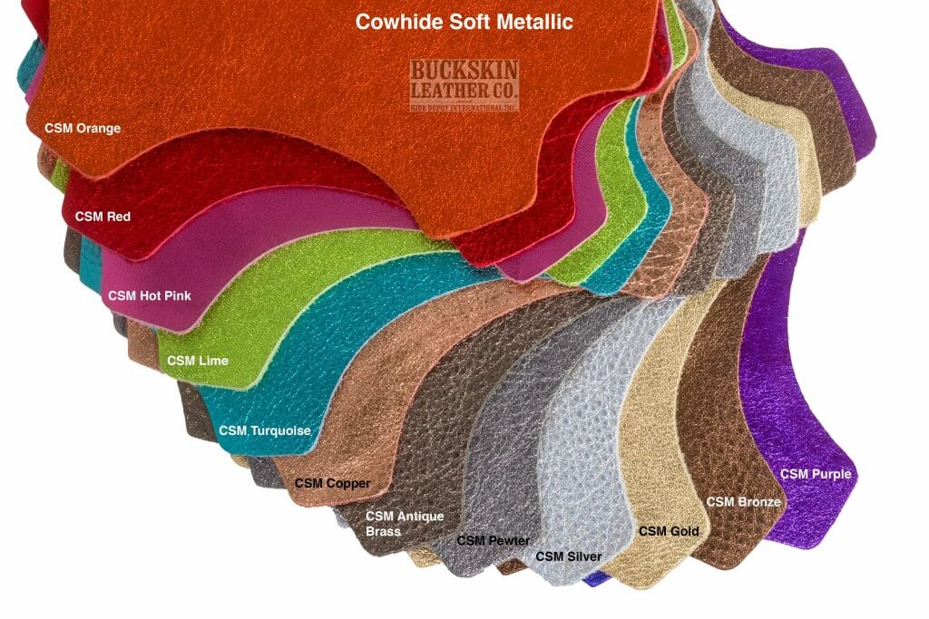 cowhide soft leather metallic colors