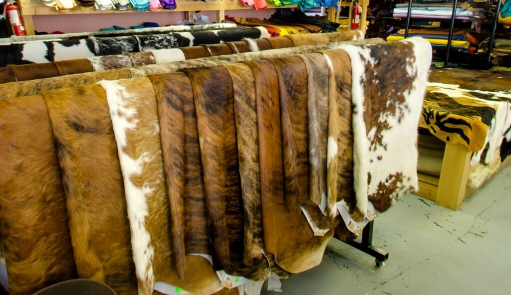 Leather supply and cowhide rugs.