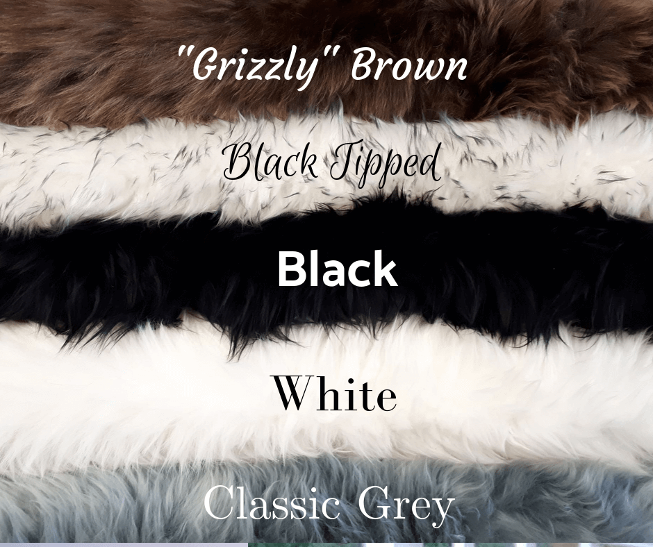 Available sheepskin rug colors