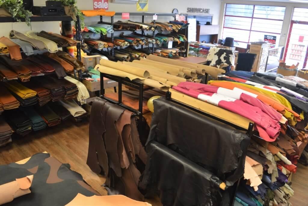 Inside Buckskin Leather Company Nanaimo