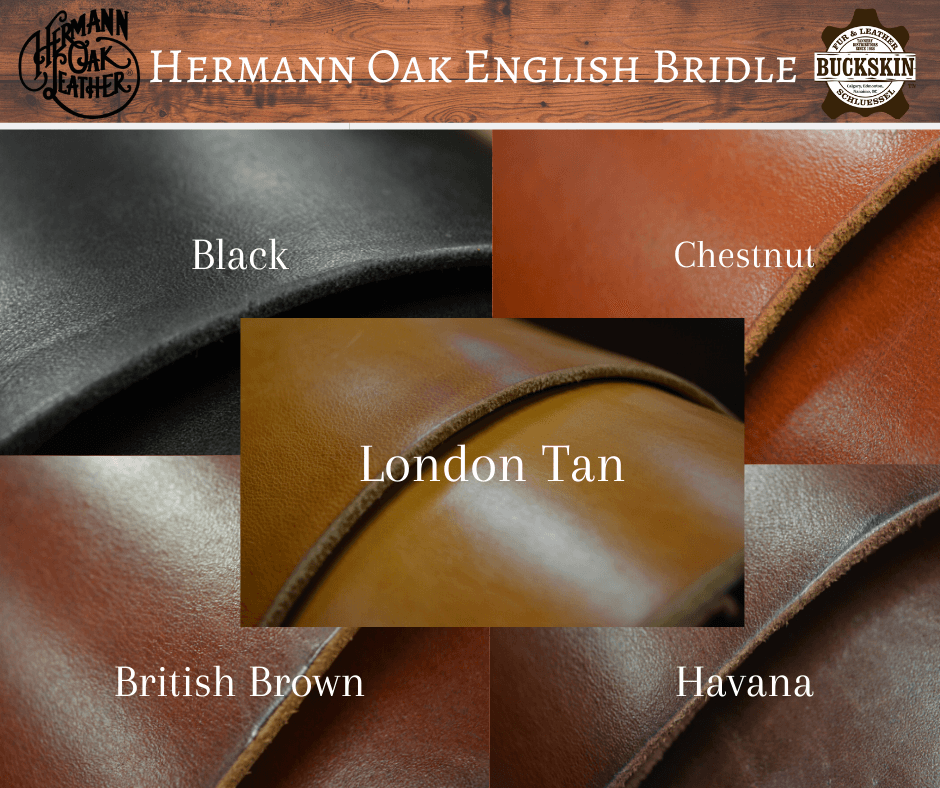 hermann oak english bridle leathers